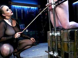 Mistress Bella Rossi Sits On Her Slaveboy's Face Before Railing Him
