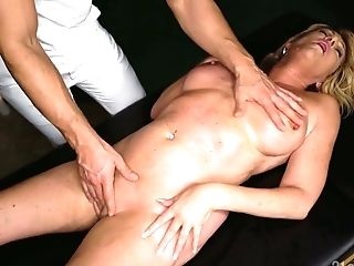 Matures Blonde With Saucy Mounds Amy Is Fucked By Youthful Horny Massagist