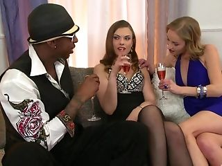 Gonzo Interracial Ffm Threesome With Dani Platinum-blonde And Johane Johansson