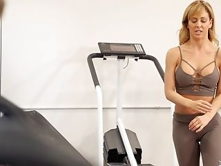 Kinky Cherie Deville Gets Her Humid Vulva Fucked On The Bench