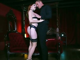 Gorgeous Crimson Haired Whore Amarna Miller Gets Intimate With Her Customer