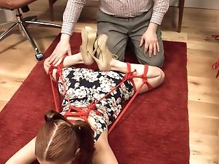 Real Obedient Whore Is Fully Clothed And Gets Frog-tied By Dom Bastard
