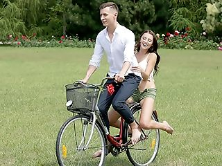 Chick On A Bicycle