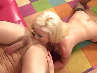 Matures Blonde Sindi Starlet Spunk Sprayed After A Rear End Style Fuck