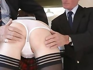 Brit Cougar Fucked In Student Attire