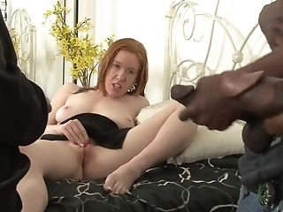 Ginger-haired Matures Whore Kierra Wilde Gets Fucked By Two Black Guys