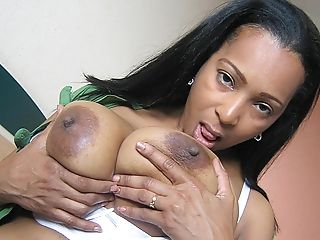Dark-skinned Matures Camila Has Tits To Die For