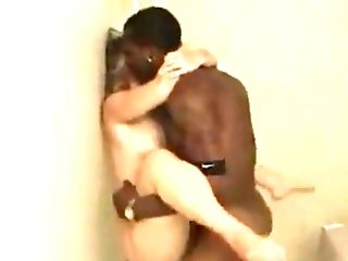 First-timer Interracial Filmed By The Bf