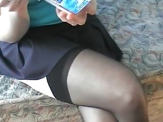 Black Seamd Stockings With High Stilettos And A Bit Of Foot Have Fun
