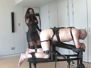 Huge-chested Mistress Ezada Uses Her Older House Boy As A Fuck Doll
