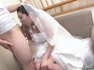 Nasty And Fairly Buxom Japanese Bride Emi Koizumi Gives A Good Bj
