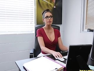 Desiree Dulce Gets Her Pyssy Fucked In The Office By Her Splendid Chief
