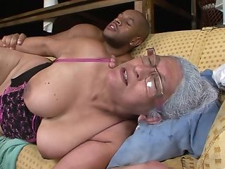 Horny Cougar Eva Gets Her Hairy Cooter Banged By A Dark Knob