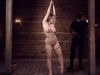 Chesty Obedient Cougar Hadley Viscara Has Her Beaver Manhandled In Restraint Bondage