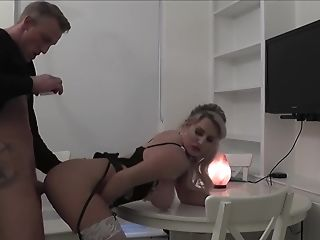 Curvy Blonde Maid Sienna Day Blows And Rails Her Bosses Dick