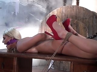 First-timer Vid Of Nice Tits And Arse Blanche Bradburry Getting Tormented