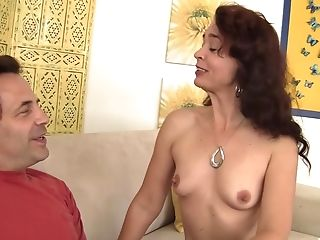 Vapid Chested Sable Renae Takes His Dick In Her Slots And Licks His Pouch