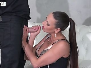 Mea Melone Bj's A Masked Mans Pecker And Gets Fucked Rear End Style