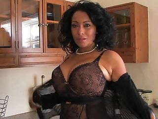 Always Horny Matures Danica Collins Plays With Her Cunt In The Kitchen