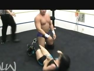 Neck Violating Piledriver And Powerbomb On Women Intergender Grappling-part2