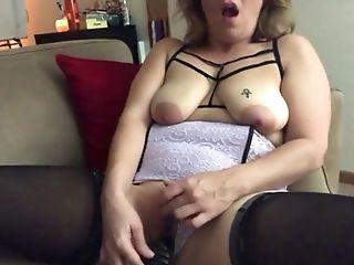Aunt-in-law Adrianne Masturbates In Undergarments