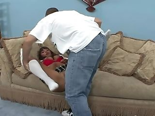 Big Tit Brown-haired Unexperienced College Girl Gets Fucked Hard