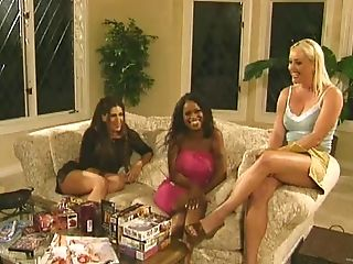 Fantastic Black Porn Industry Star With Big Tits Gives A Big Black Pipe A Bj Then Gets Slammed In An Interracial Ffm Threesome
