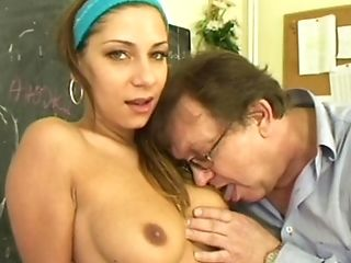Trimmed Cootchie Radka D Spreads Her Gams For An Old Boy's Rod