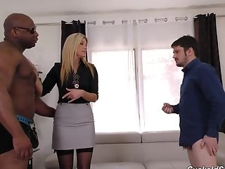 Black Man Gets To Fuck India Summer In Front Of Her Bf