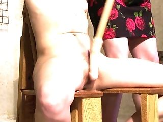 Blonde Matures Mistress Manhandles Her Female Tied Up Fucky-fucky Sub